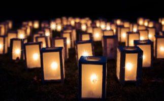 Berkeley Accupunture Lanterns with tea lights