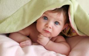 A baby that was conceived with the help of IVF fertilization and acupuncture