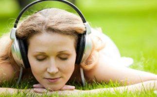 Berkeley Accupunture Woman with headphones